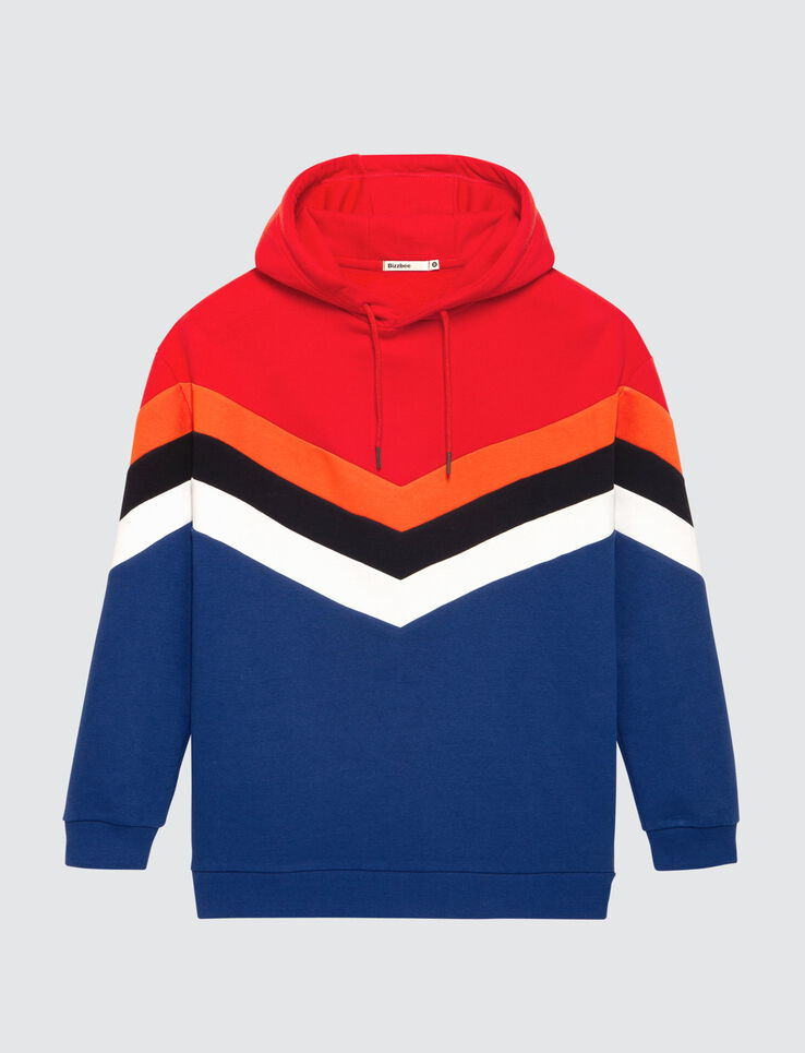 Sweat à capuche colorblock