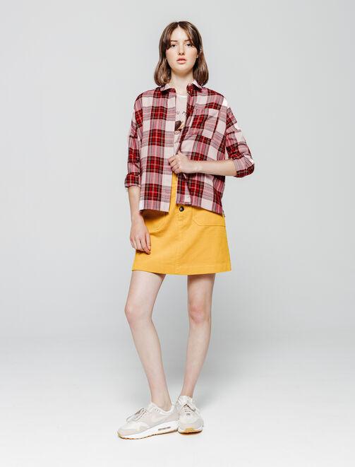 Chemise à carreaux femme
