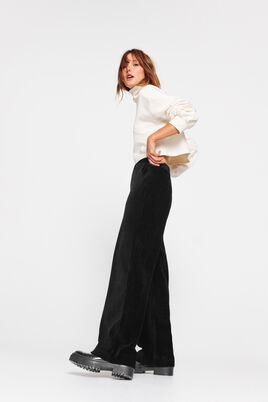 Pantalon Large Maille Velours