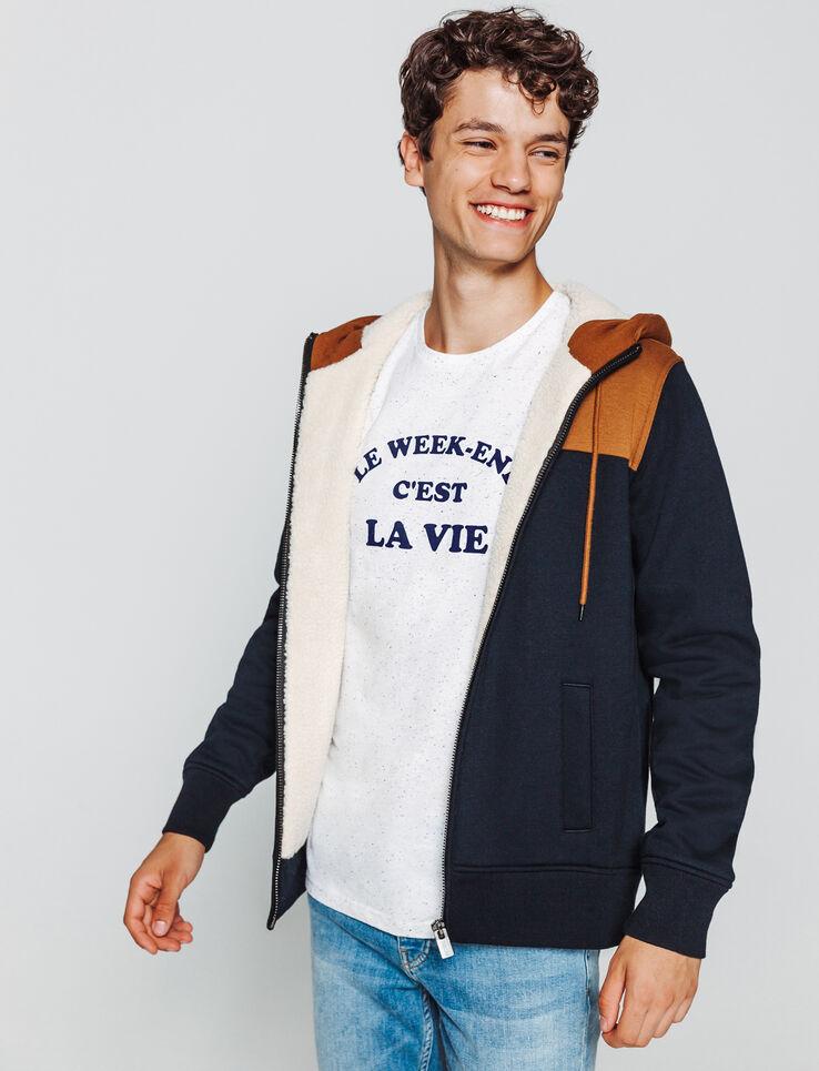 """T-shirt message """"Le weekend c'est la vie"""""""