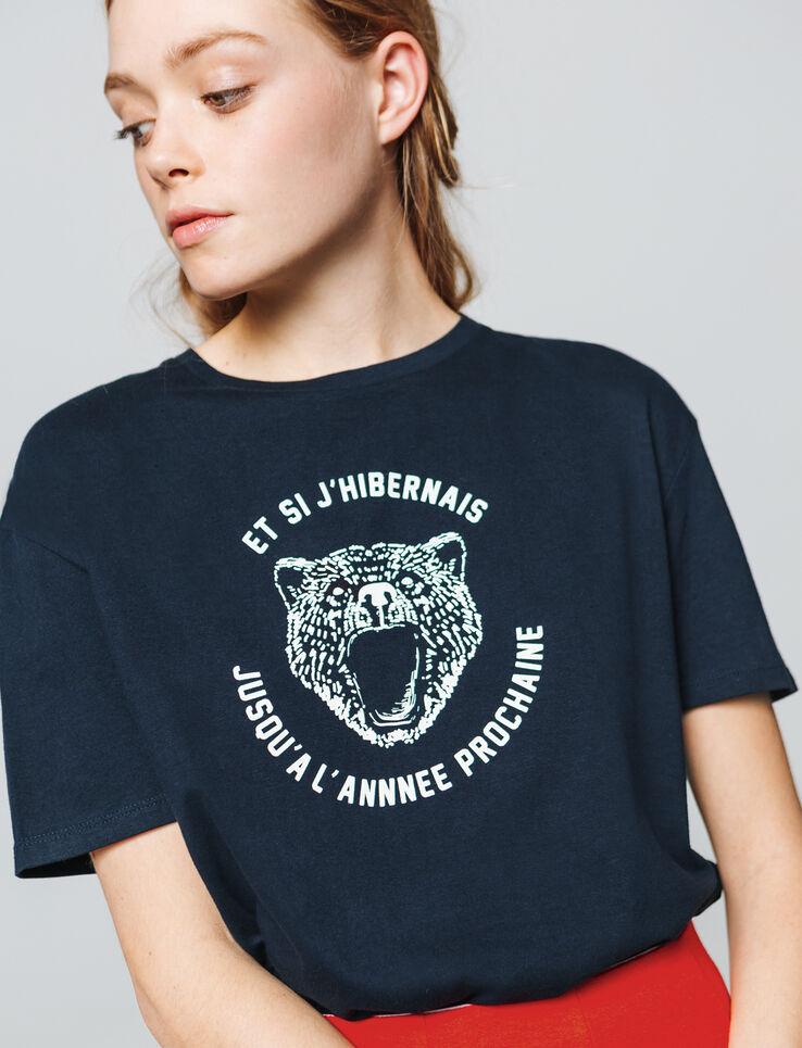 """T-shirt à message """" et si j'hibernais jusqu'à l'an"""
