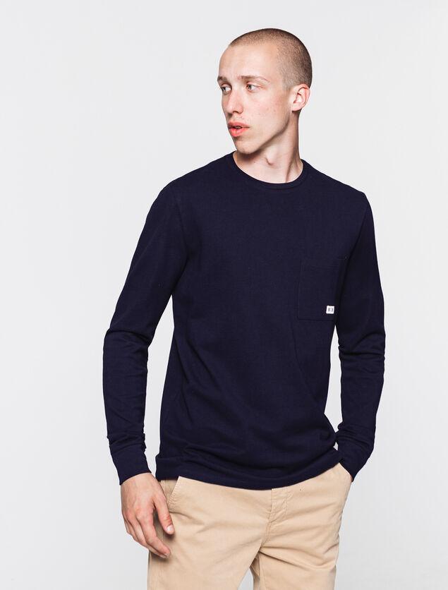 T-shirt en coton pique poche poitrine en coton bio