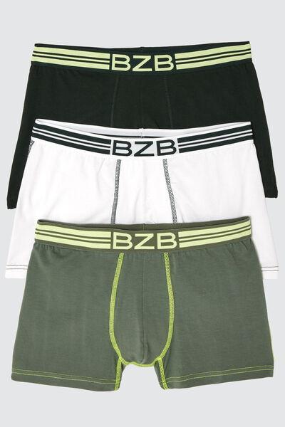 Boxers Vert Fluo en coton issu de l'agriculture bi