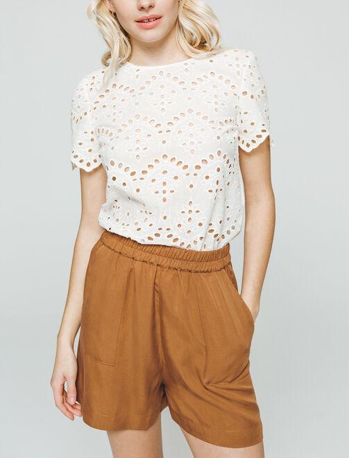 Short tencel  femme