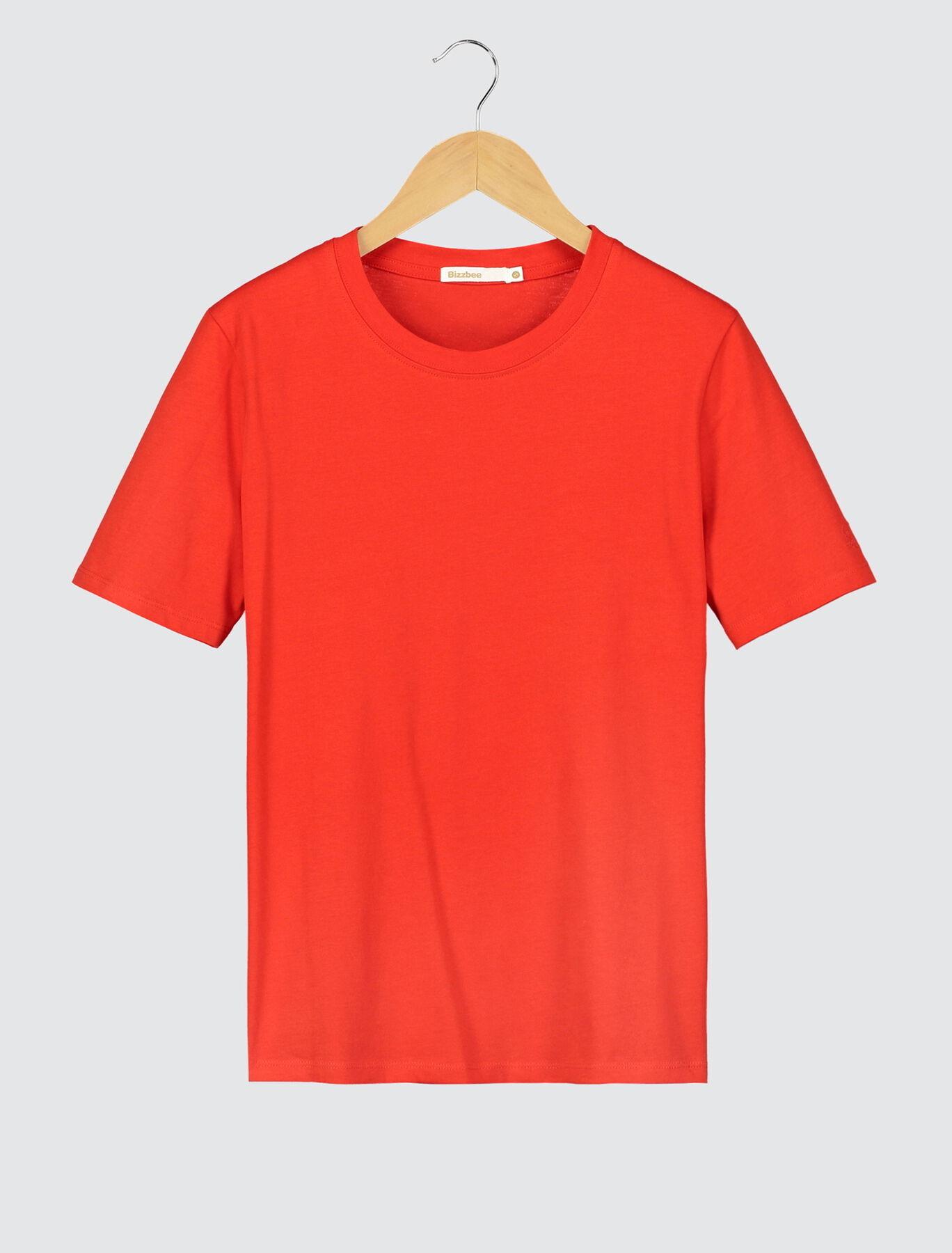 T-shirt coton bio brodé manche