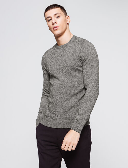 Pull fin basique chiné homme