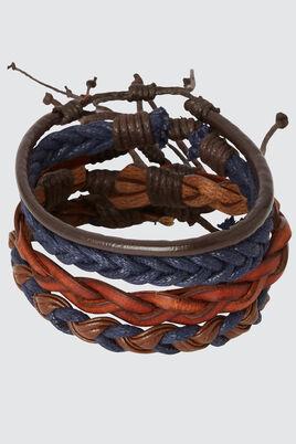 Set de bracelets marine et marron