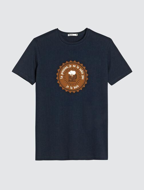 """T-shirt message """"La pression, je ne la subis pas,  homme"""