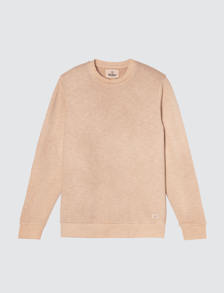 Sweat col rond Garment dyed