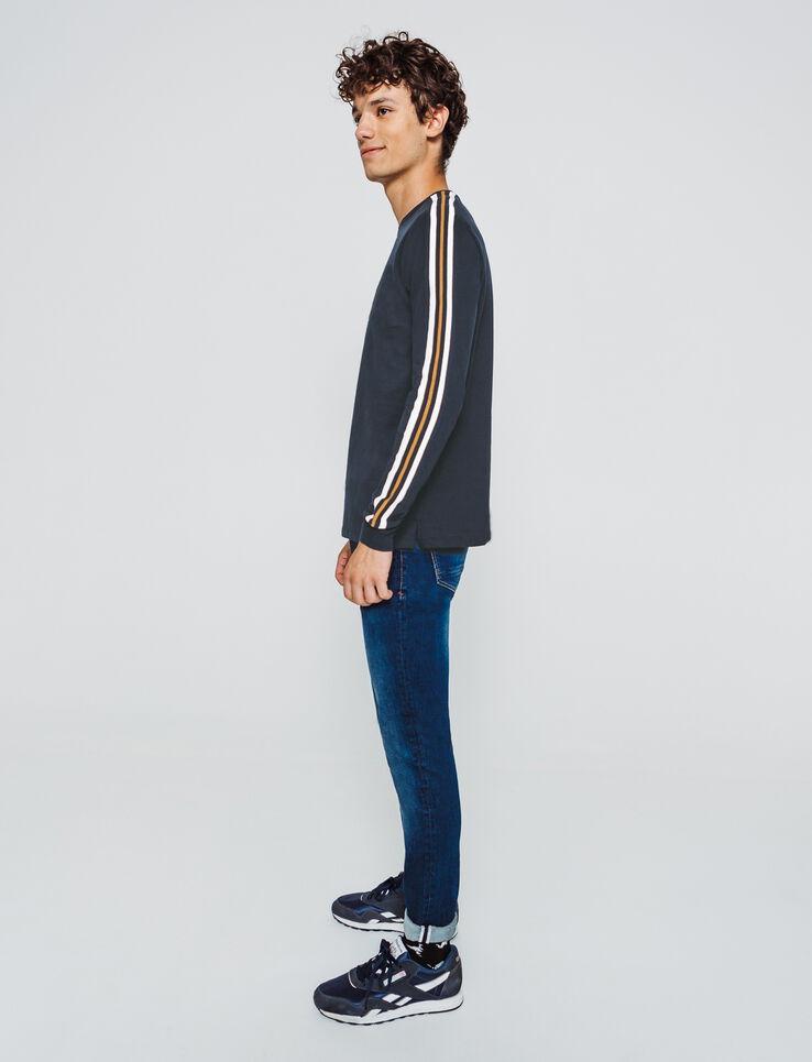 T-shirt uni manches longues rib bande