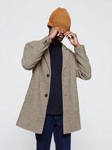 Manteau en laine à carreaux