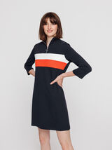 Robe maille colorblock