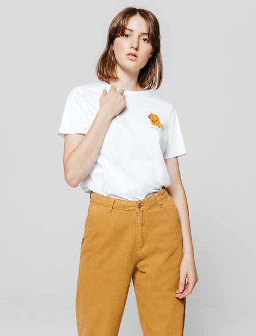 T-shirt fantaisie imprimé placé femme