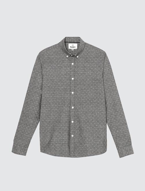 Chemise fantaisie moulinée homme