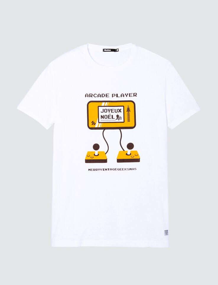 T-shirt Noël print console de jeu