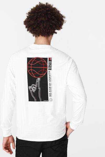 T-shirt ML imprimé devant dos