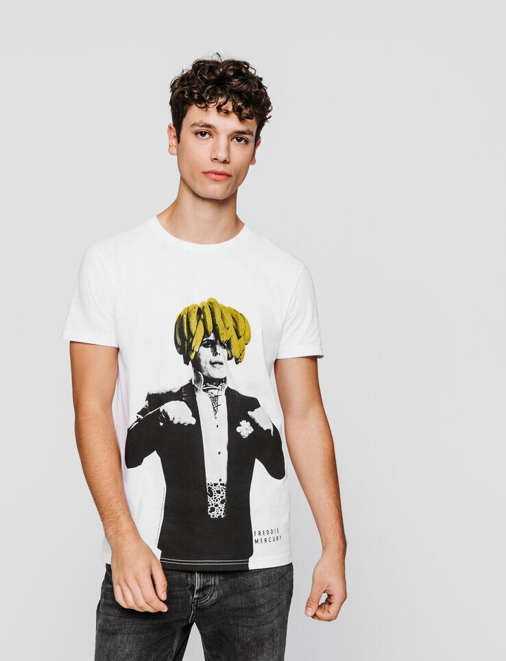 T Shirt License Queen Homme Blanc Casse Bizzbee
