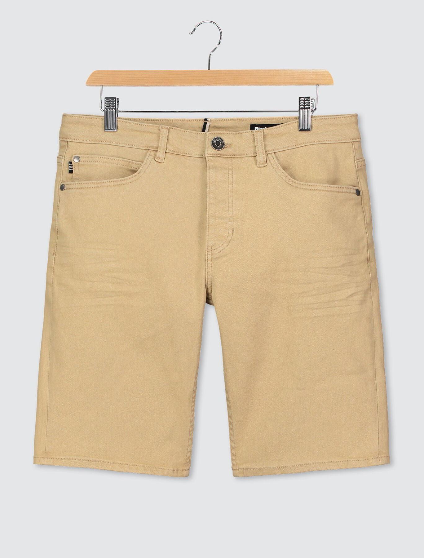 Bermuda couleur en jean