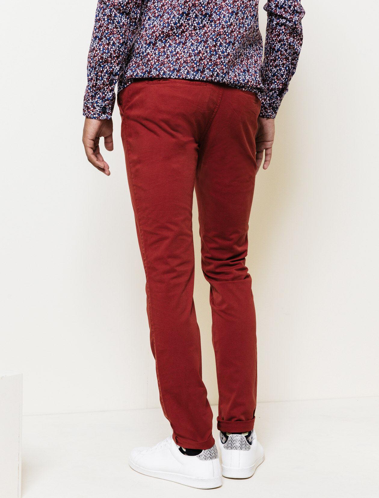 Pantalon Bizzbee Rouille Classique Chino Homme p7nw7TYzq