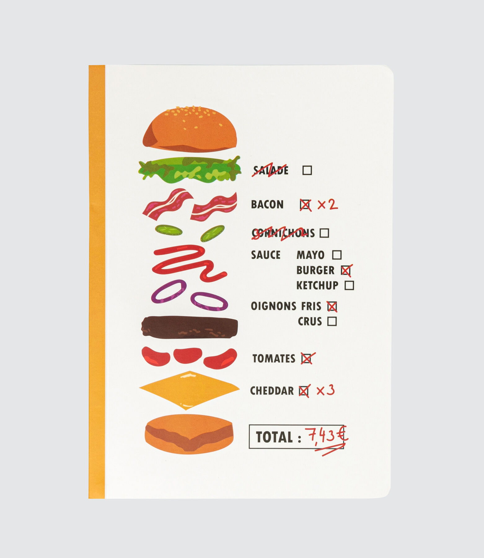 Cahier Fast Food Vintage