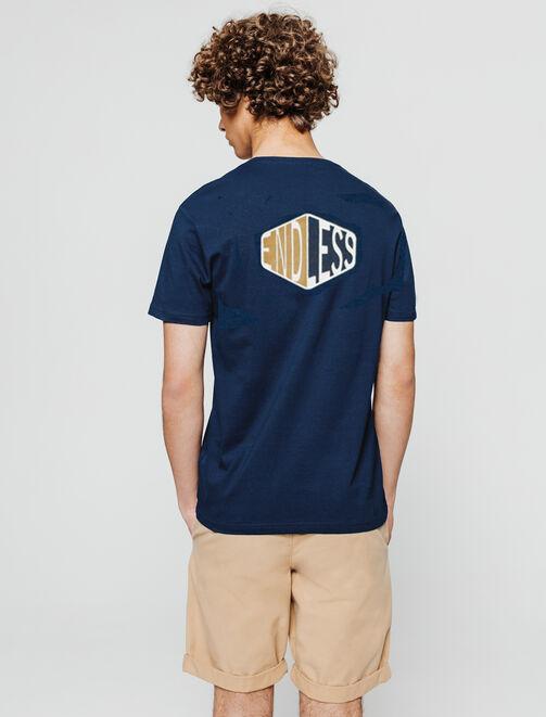 T-shirt print devant dos  homme