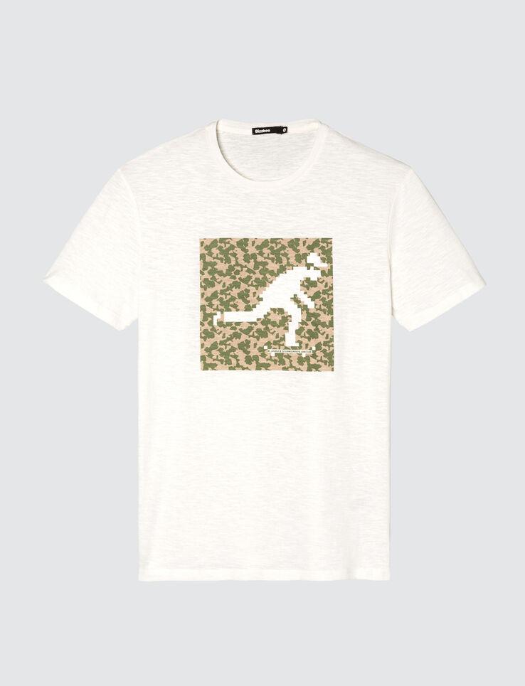 T-shirt logo print encadré
