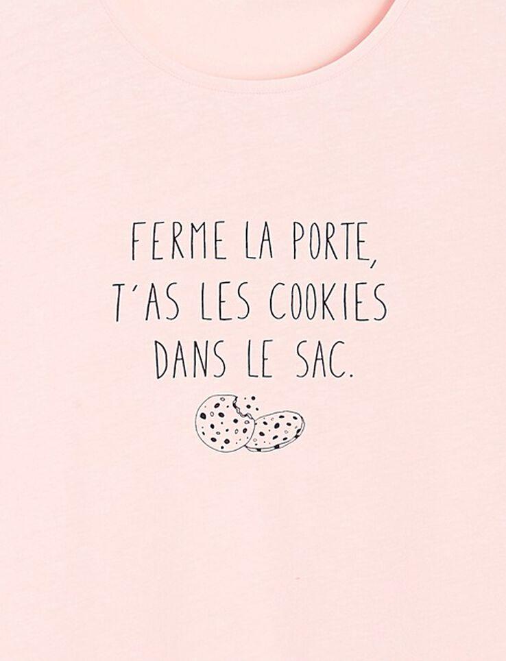 """T-shirt """"ferme la porte, mets les cookies dans le"""