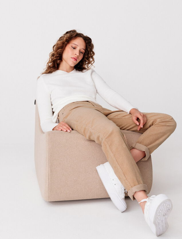 Pantalon Mom en Velours Coton Bio