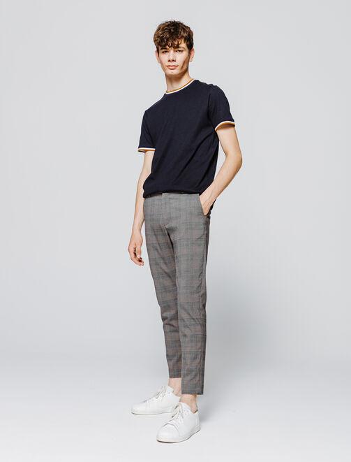 Pantalon de ville à carreaux homme