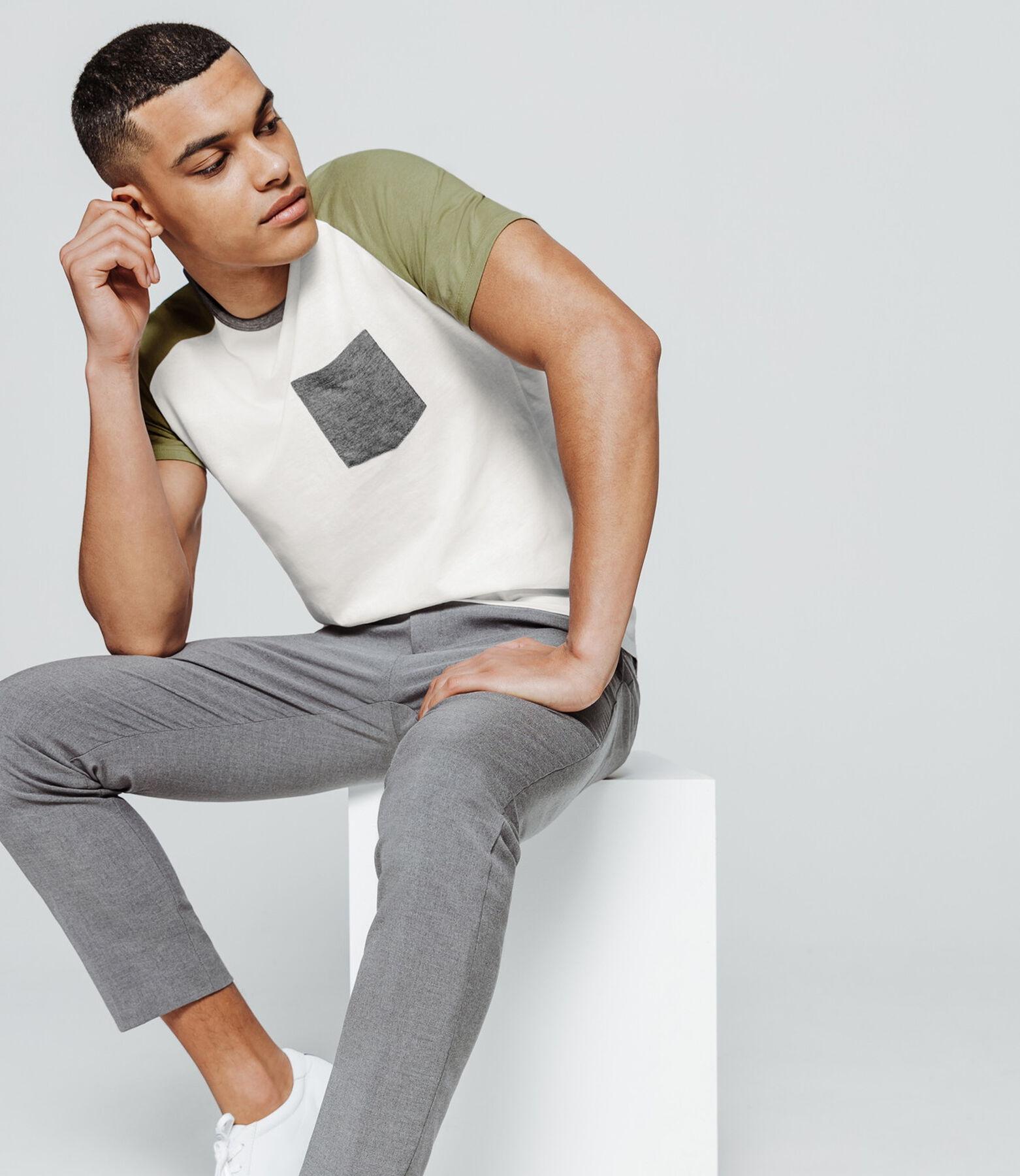 T-shirt colorblock empiecement raglan