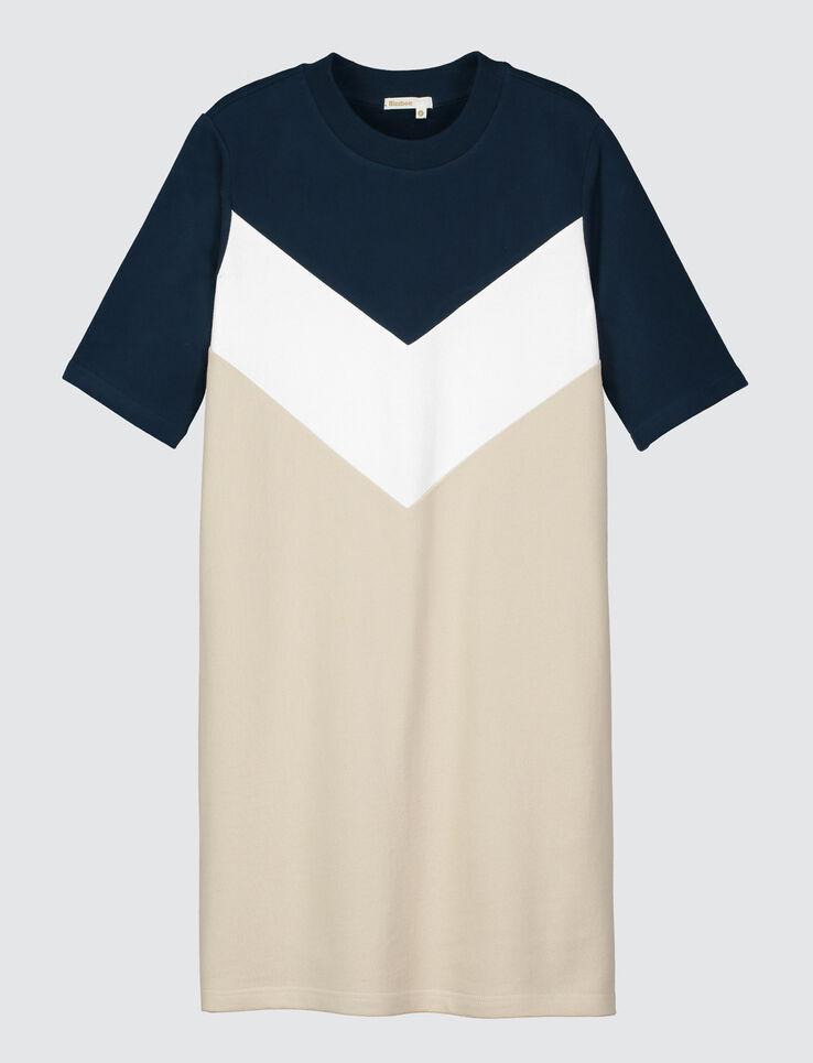 Robe t-shirt color block