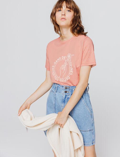 """T-shirt message """"Gang de copines - depuis toujours femme"""