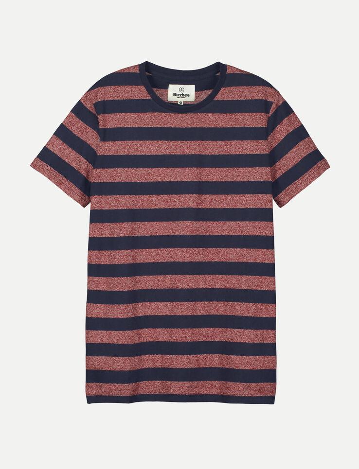 T-shirt rayé et poche poitrine