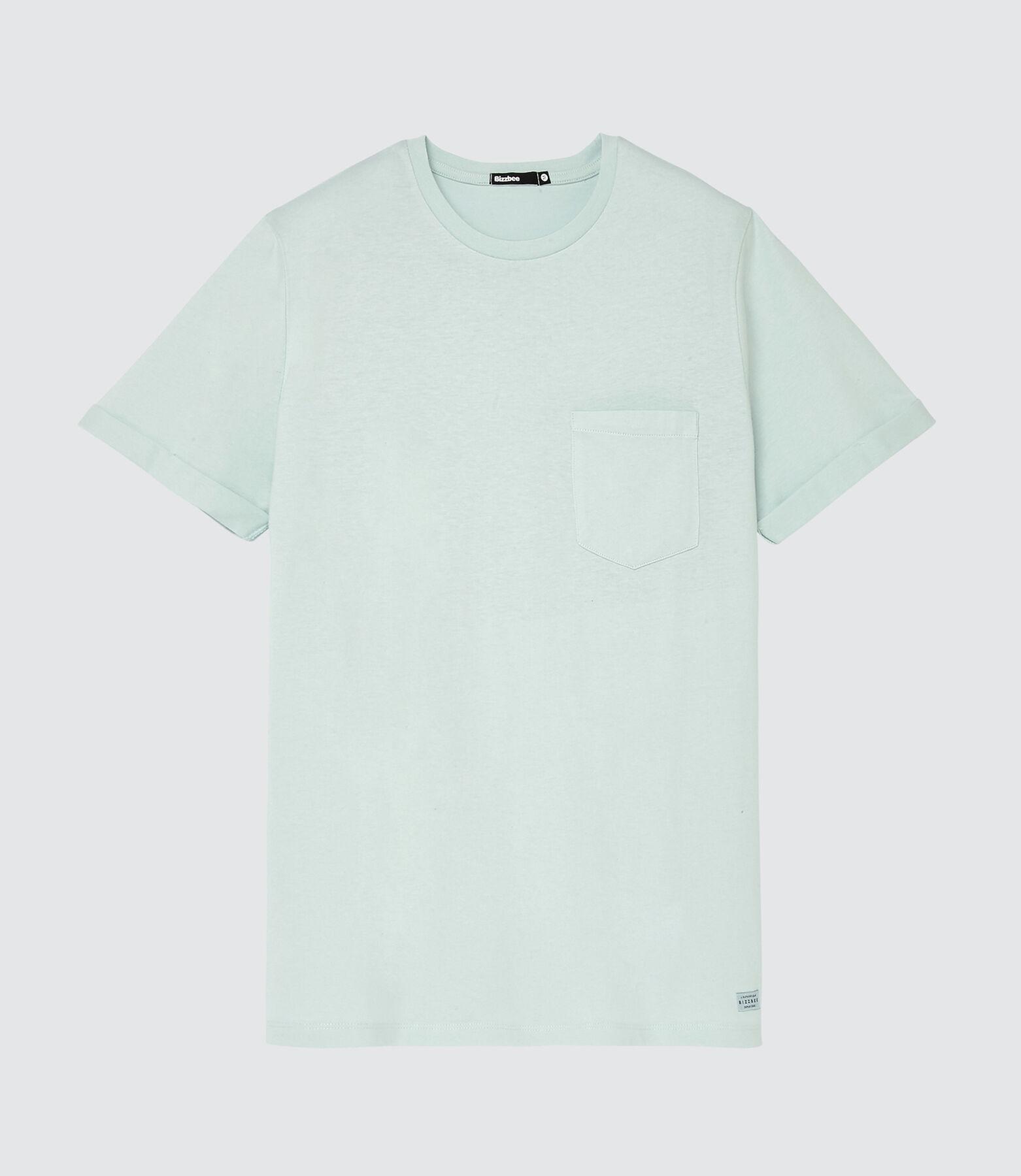 T-shirt uni avec poche en coton issu de l'agricult