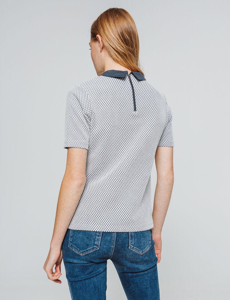 T-shirt jacquard col chemise