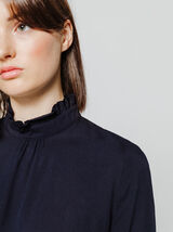 Blouse col montant