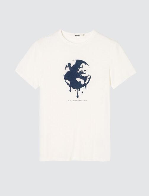 """T-shirt en coton bio """"Plus chaud que le climat"""" homme"""