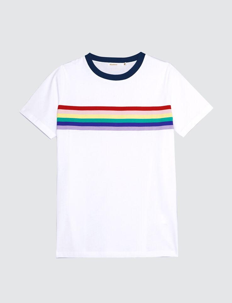 T-shirt rayure arc-en-ciel