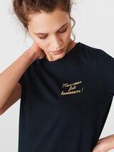 T-shirt brodé en coton bio