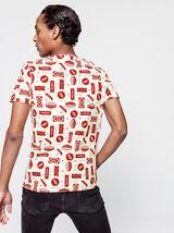 T-shirt imprimé logos inspiration western