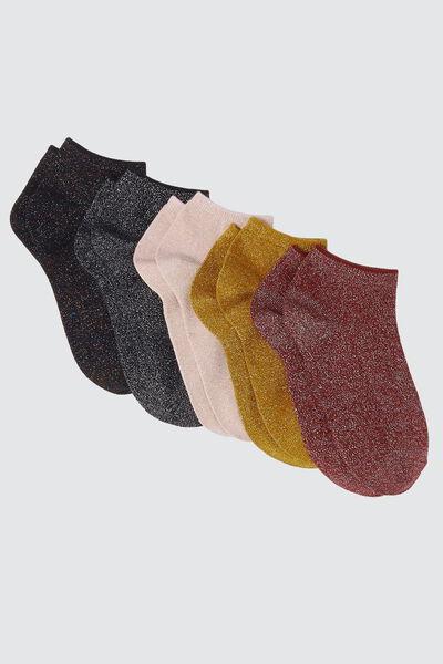 Socquettes Lurex Lot*5