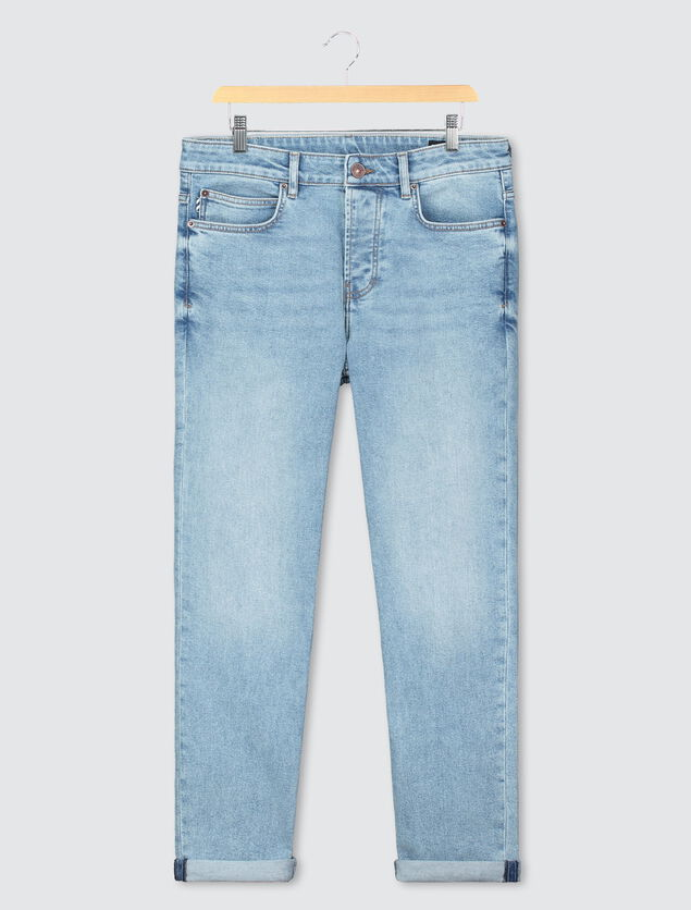 Jean straight lavé vintage coton bio