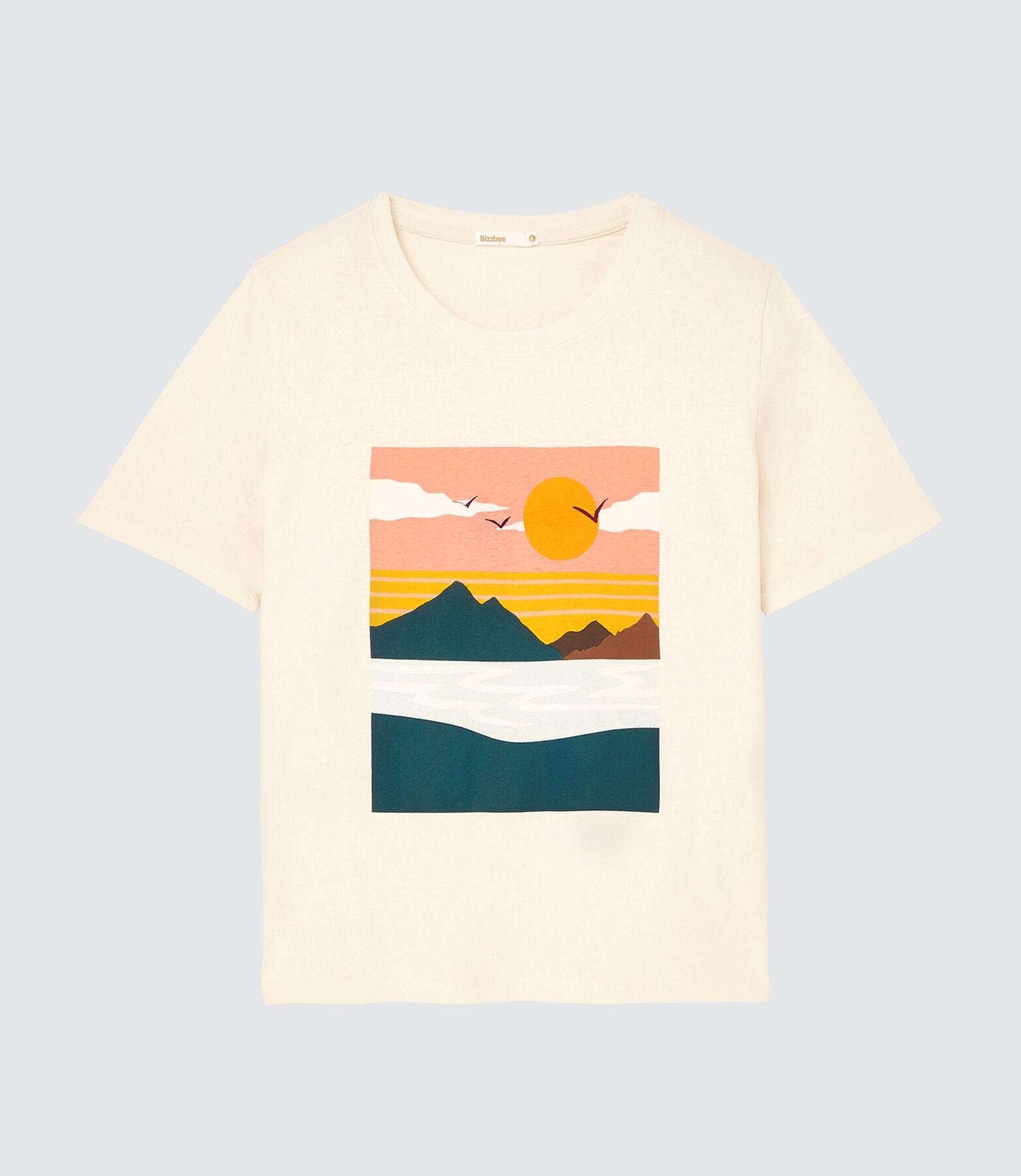 T-shirt imprimé paysage en coton bio
