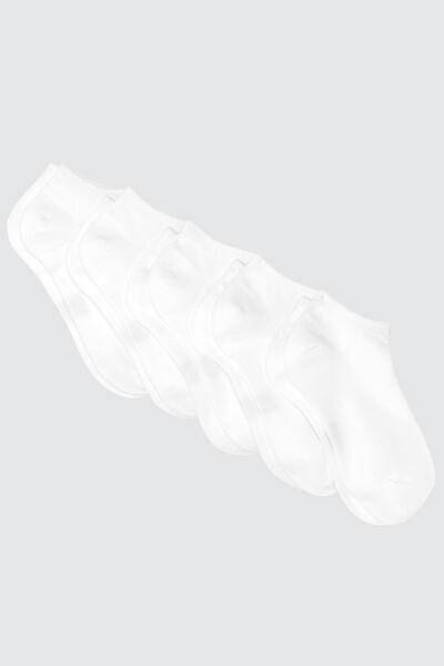 Lot *5 Socquettes Bazzic Blanches en coton issu de