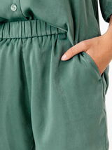 Short Satin Uni Polyester Recyclé