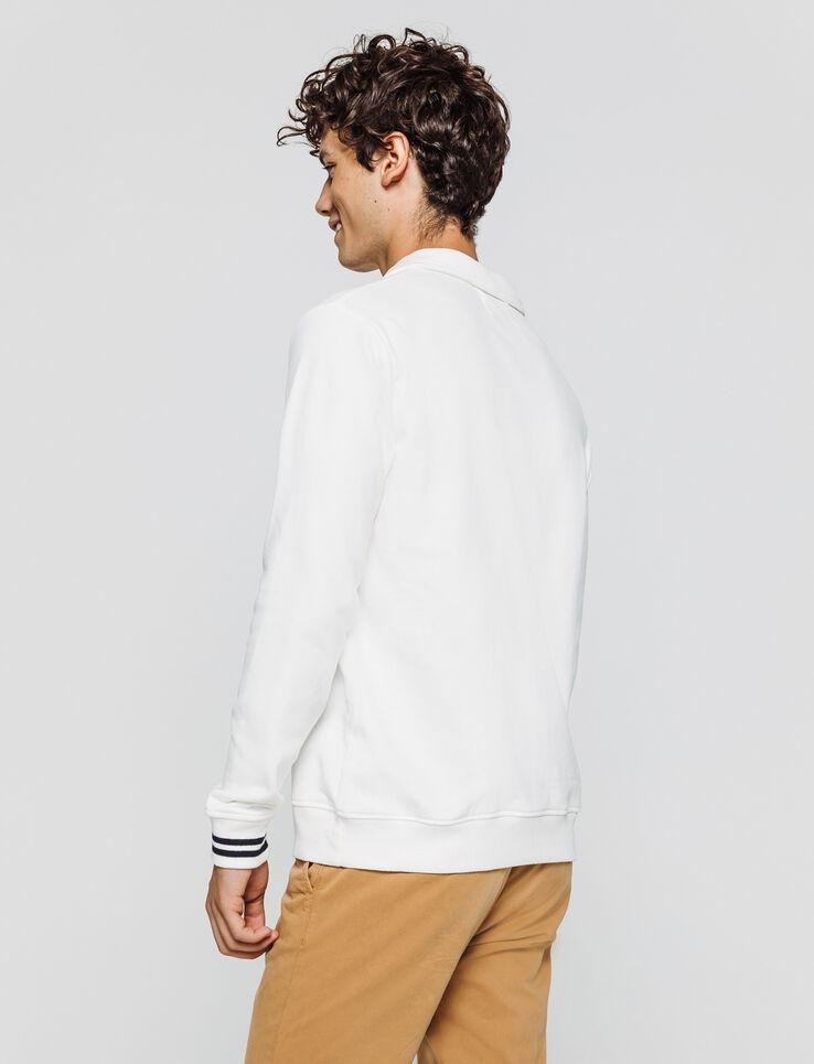 Sweat uni col chemise