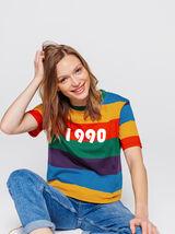 T-shirt rayé 1990
