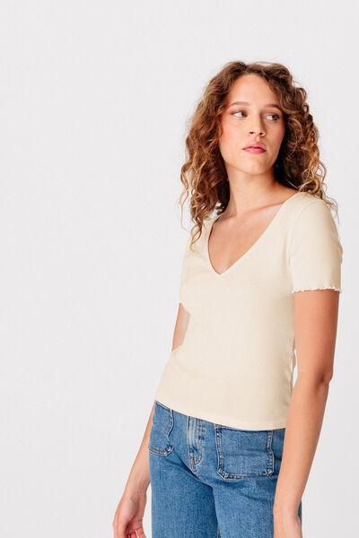 T-shirt col V bio