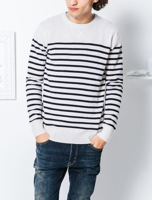Pull marin en lainage homme