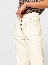 Pantalon Slouchy Ecru